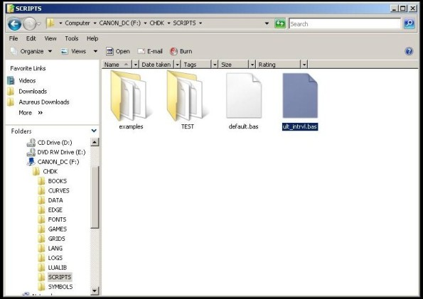 script in folder